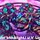 Thumbnail: Laser Light Show Teal ink - 7pc dice set