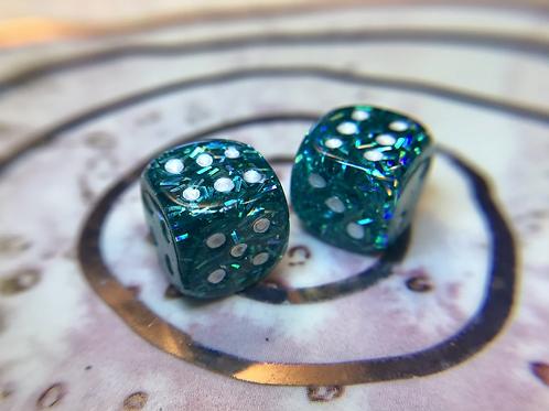 Sprinkles confetti-  Set of (2) 12mm d6