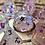 Thumbnail: Pink/Purple iridescent starbursts- 7pc dice set