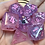 Thumbnail: Pink/purple starbursts- 7pc dice set
