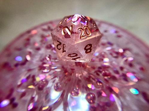Pink Petal D20 Trinket Box