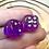 Thumbnail: Purple Starbursts- Set of (2) 12mm d6