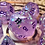 Thumbnail: Thermal Purple/white starbursts - 7pc dice set