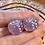 Thumbnail: Pastel Purple and Pink starbursts - Set of (2) 12mm d6