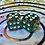 Thumbnail: Green/red shards/gold- Set of (2) 12mm d6