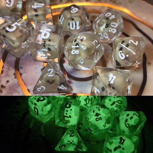 Ghosty(white ink) - 10 pc dice set