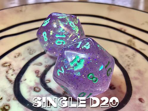 Purple Iridescent - Single d20