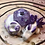 Thumbnail: Sleepy Dice Dragon - white/light & dark purple
