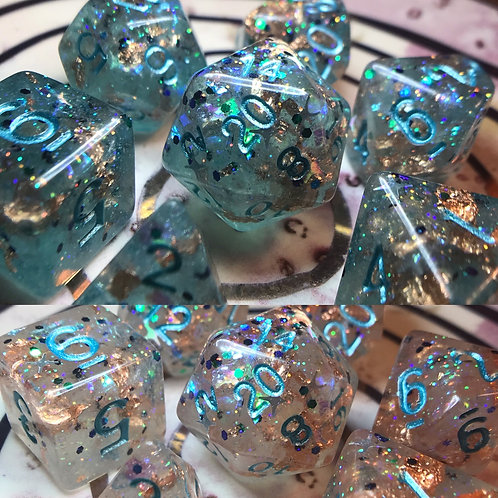 Thermal Color-Changing- 7pc dice set