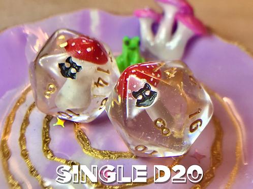 Amanita Mushroom d20-  Single d20