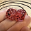 Thumbnail: Red Swirl with Red and Black Bats- Set of (2) 12mm d6
