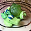 Thumbnail: Sleepy Dice Dragon- kiwi/blue/white