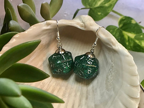 Forest Dweller Handmade Dice Earrings