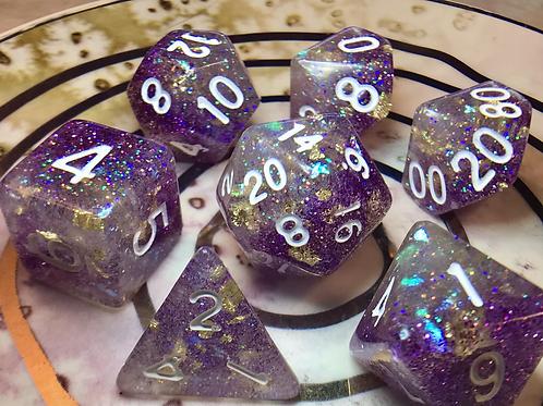 Icy purple- 7pc dice set