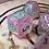Thumbnail: Pink and Teal starbursts - 7pc dice set