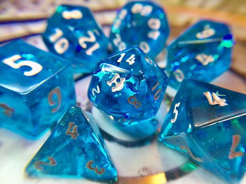 Beachy Blue - 7pc dice set