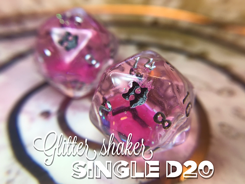 Pink w/Bats - Shaker d20 - Single d20