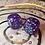 Thumbnail: Purple starbursts/ blue ink -Set of (2) 12mm d6