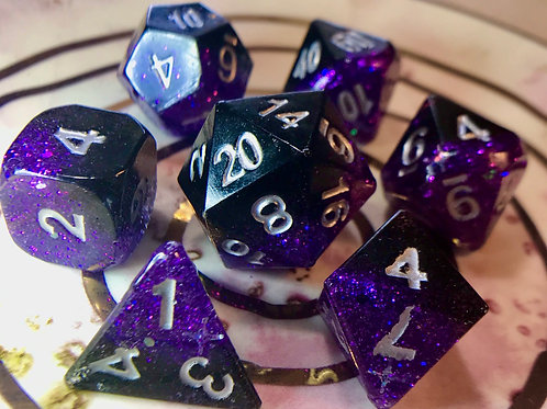 Punky Purple - 7pc dice set