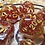 Thumbnail: Red and gold- 7pc dice set