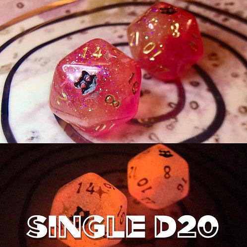 Pink/Orange starbursts- Single d20