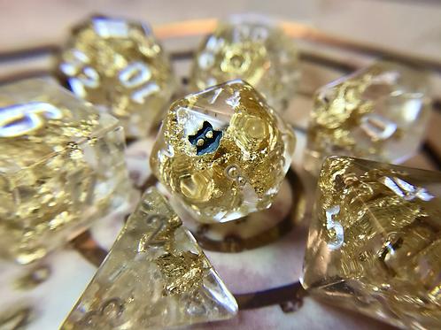 Gold Foil- 7pc dice set