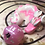 Thumbnail: Sleepy Dice Dragon - white/pink swirl