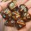 Thumbnail: Copper/blue 7pc dice set