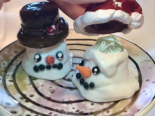 Melting Snowman- d20 Holder