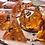 Thumbnail: Pumpkin orange w/Black Bats 10 pc dice set