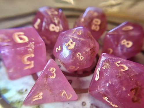 Peachy Pink - 7pc dice set