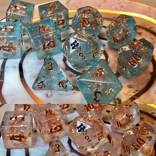 Thermal Teal and Copper- 10 pc dice set