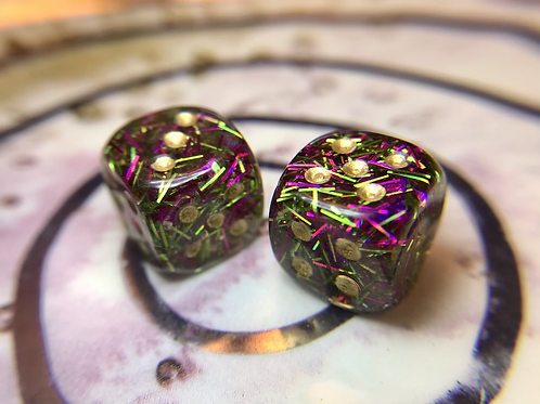 Punchy with bats - Set of (2) 12mm d6