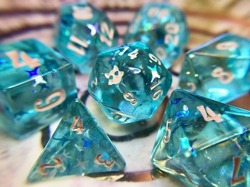 Beachy Light Blue - 7pc dice set