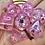 Thumbnail: Light Pink Butterflies- 7pc dice set