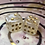 Thumbnail: Pearl and Gold- Set of (2) 12mm d6
