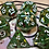 Thumbnail: Green/red shards/gold- 7pc dice set