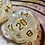 Thumbnail: Single d20 - Pearl and Gold