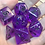 Thumbnail: Purple Bats- 7pc dice set