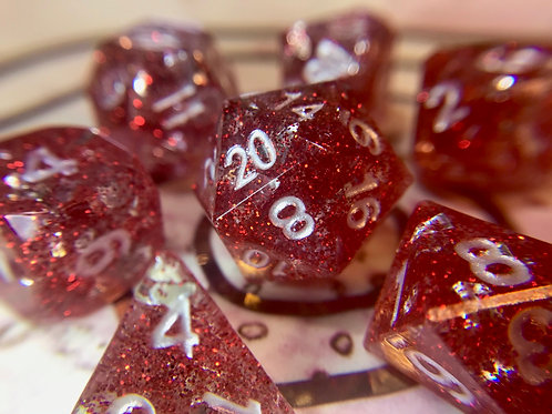 Peppermint Bark - 7 pc dice set