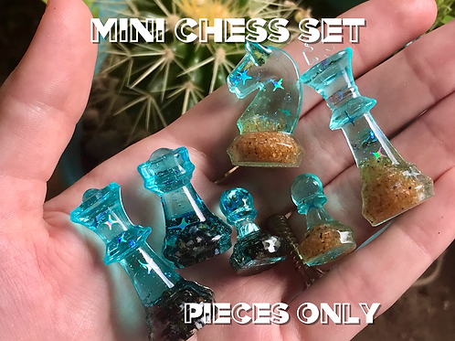 FULL Mini Chess Set Pieces Only