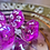 Thumbnail: Pink and clear starburst- 7pc dice set