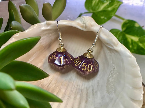 Purp. - Handmade Dice Earrings