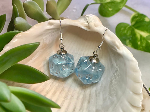 Butterfly Sky- Handmade Dice Earrings