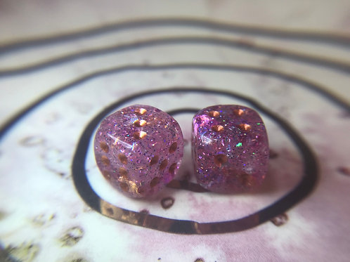 Pinkypurple - set of (2) 12mm d6