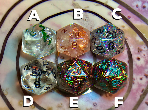 Single d20 -choose your own