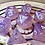 Thumbnail: Pastel purple/pink starbursts 7pc Dice Set