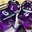 Thumbnail: Black/Purple Bats - 7pc dice set