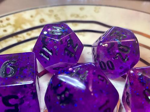 Purple Bats- 7pc dice set