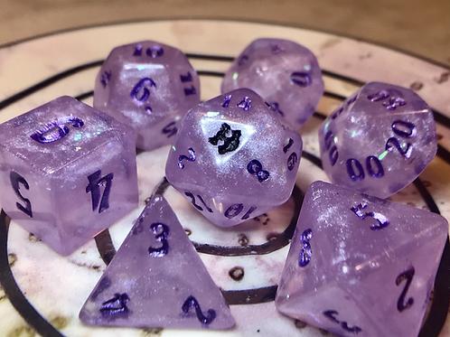 Lavender Shimmer- 7pc dice set